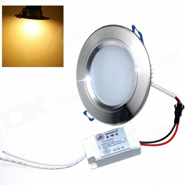 ZHISHUNJIA ZSJ8W-S 8W 600lm 3000K 16-SMD 5630 LED Warm White Ceiling Lamp -Silver (AC 85~265V) zhishunjia zsj 554a 5w 350lm 3500k 5 led warm white light ceiling lamp silver ac 85 265v