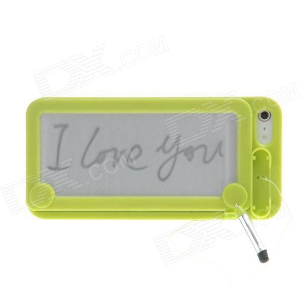 Creative Magic Drawing Board Protective Back Plastic Case for IPHONE 5 - Green