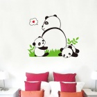 Stylish Panda Babies Style Wall Sticker - White + Green (70 x 50 x 0.3cm)
