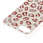 Funda protectora de plástico para iPhone de estilo leopardo para IPHONE 5 / 5S - Blanco + Rosa + Multicolor