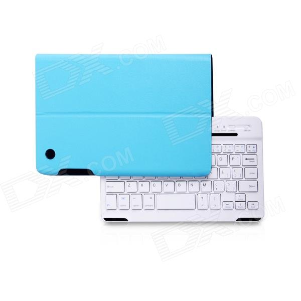 B.O.W Detachable Bluetooth V3.0 59-Key Keyboard w/ PU Case for IPAD MINI / RETINA IPAD MINI - Blue