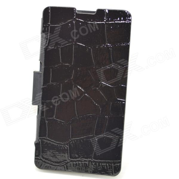 External 3500mAh Li-polymer Backup Battery w/ PU Leather Cover for Sony Xperia Z1 Compact Mini