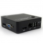ESCAM K104 4-CH Mini 720P / 1080P NVR Network Video Recorder - Black (PAL / NTSC / US Plugs)