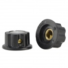 Aluminum Alloy Volume / Potentiometer Knob Caps - Black (10PCS)