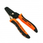 "YDL-CT4-12 7"" Handy Grinding Teeth Wire Stripping Pliers Tool - Black + Orange"