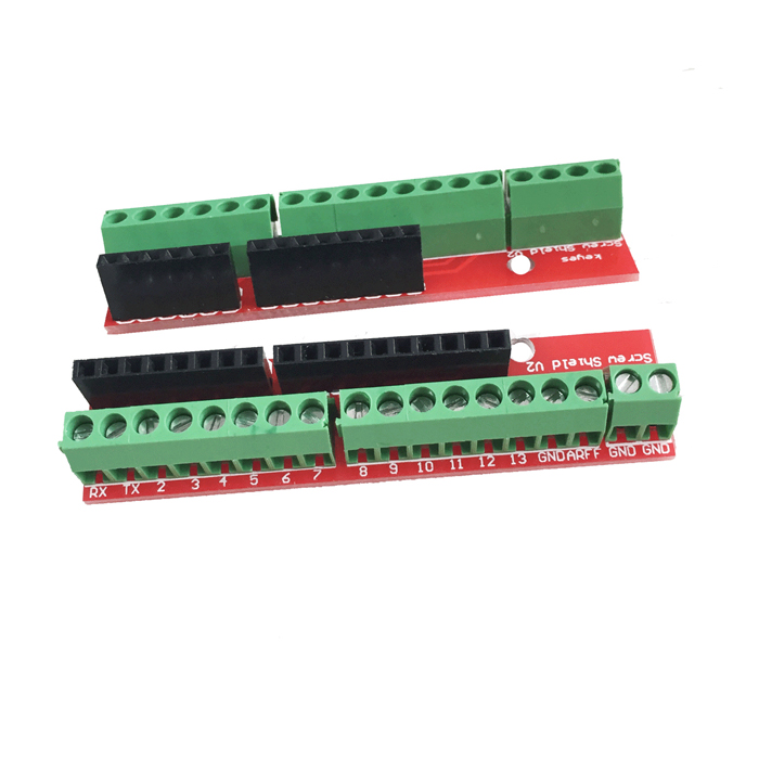 DIY Wiring Terminal Expansion Board Module for HF-Arduino - Red (2PCS) цена