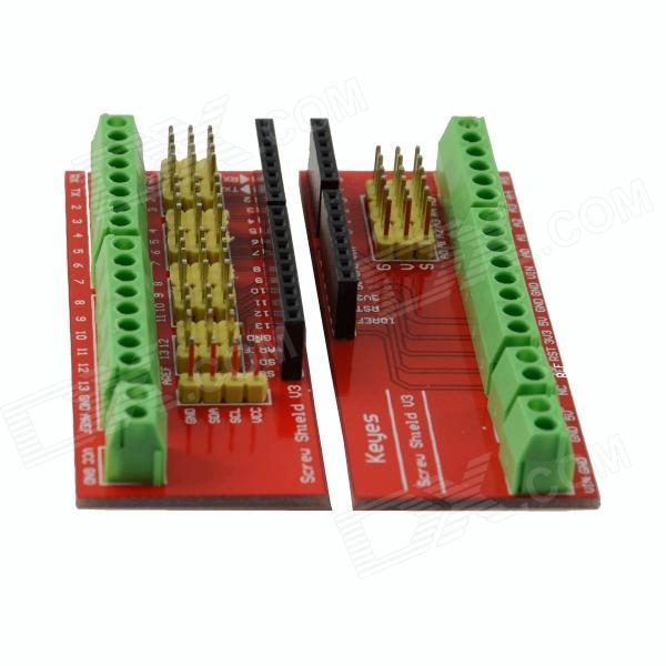 DIY Wiring Terminal Expansion Board Module for HF-Arduino - Red (2PCS) fbs 20x fatek plc 24vdc dio expansion modules new original