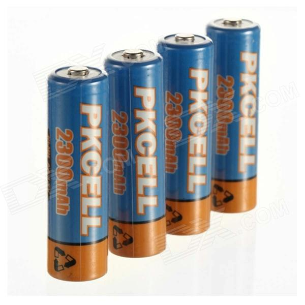 PKCELL 1.2V 2300mAh Ni-MH rechargeables AA Batteries - bleu + orange (4 PCS)
