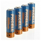 PKCELL 1.2V 2300mAh Ni-MH Rechargeable AA Batteries - Blue + Orange (4 PCS)