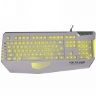Dare-u Adjudicator LED 3-Color Backlit USB Wired Gaming Keyboard - White