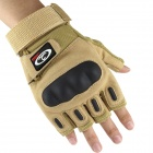 OUMILY Outdoor Tactic Half-Finger Gloves - Khaki (Size L / Pair)