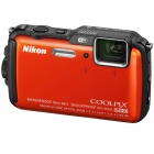 Genuine Nikon Coolpix AW120 Camera w/ 5x Optical Zoom Lens - Orange