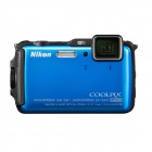 Genuine Nikon Coolpix AW120 Camera w/ 5x Optical Zoom Lens - Blue