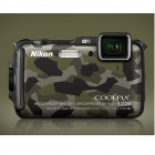 Genuine Nikon Coolpix AW120 Camera w/ 5x Optical Zoom Lens - Camouflage