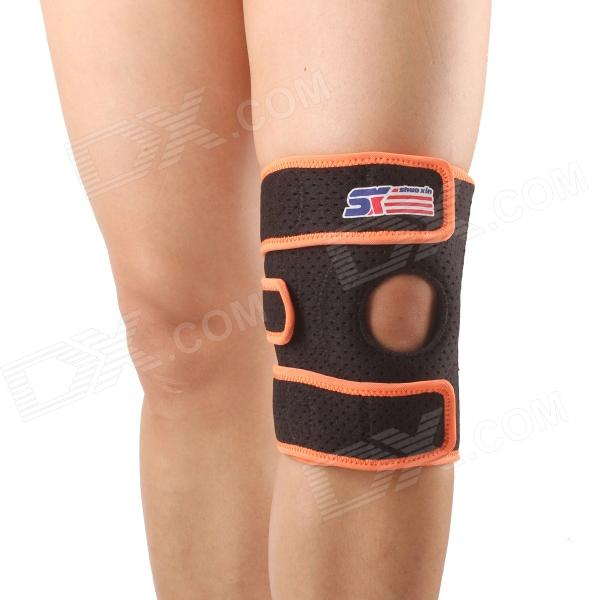 ShuoXin SX617 Adjustable Sports Knee Support Brace Wrap Protector Pad Sleeve - Orange + Black shuoxin sx662 sports basketball elastic ankle foot brace support wrap black