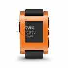 Pebble Smart Watch for iPhone + Android Device - Orange