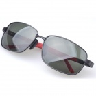 Aolong A127 Men's Protective UV400 Polarized Sunglasses - Black + Red