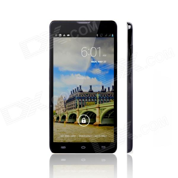 V55 Android 4.2 Quad-Core WCDMA Smartphone w/ 5.5 Screen, Wi-Fi and GPS - Black 9100 4 1 capacitive screen android 2 3 dual sim 3g wcdma smartphone w wi fi gps black
