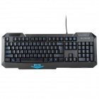 Ajazz X5 ABS USB 2.0 Wired 107-Key Waterproof Gaming Keyboard - Black + Blue