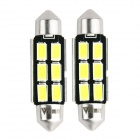 WaLangTing Festoon 40mm 5W 6000K 140lm 6-5630 SMD White LED Car Reading Lamp (12V / 2 PCS)
