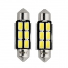 WaLangTing Festoon 38mm 5W 6000K 140lm 6-5630 SMD White LED Car Reading Lamp (12V / 2 PCS)