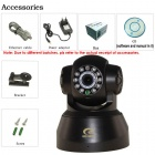 Eye Sight ES-IP609IW Household Security 300KP CMOS Night Vision Wi-Fi IP Camera - Iron Grey