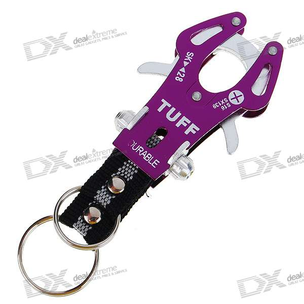 Aluminum Alloy Keychain - Middle (Color Assorted)