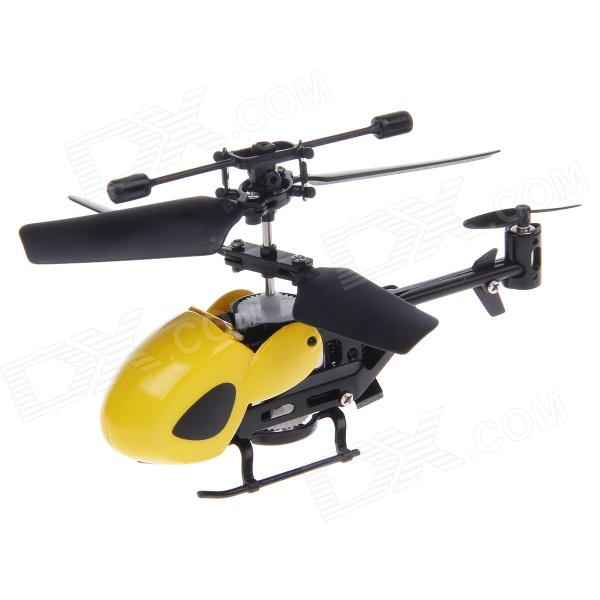 QS5026 3.5-CH Micro Infrared Indoor Remote Control R/C Helicopter w/ Gyro - Yellow + Black (4 x AA)