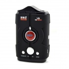 "V8 1.5"" Screen 360 Degree Bilingual Digital Radar Laser Detector - Black + Red (12V)"
