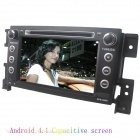 "LsqSTAR 7"" Android Capacitive Screen 2-Din Car DVD Player w/ GPS Radio BT SWC AUX for Suzuki Vitara"