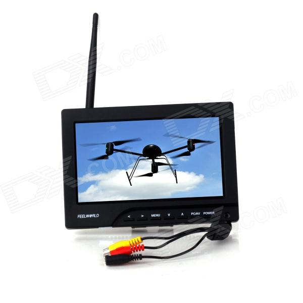 "Feelworld 7"" LCD Station sol FPV moniteur w / Built-in récepteur 5.8Ghz - Noir"