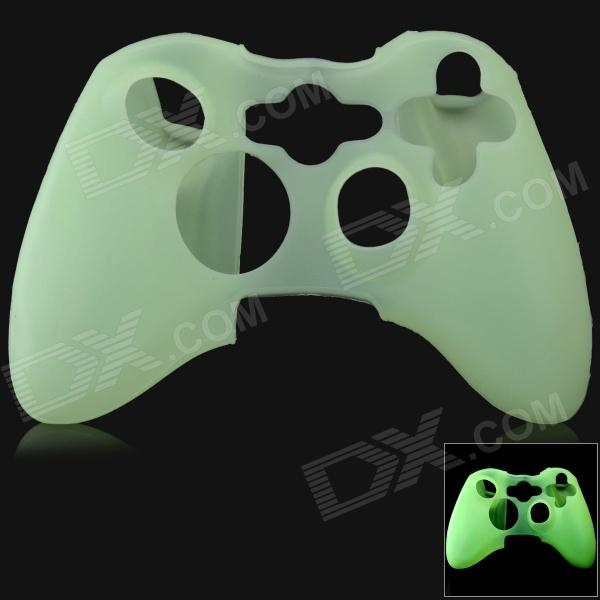 Glow-in-the-Dark Protective Silicone Case for XBOX 360 / XBOX 360 Slim Controller - Green protective silicone cover case for xbox 360 controller yellow blue