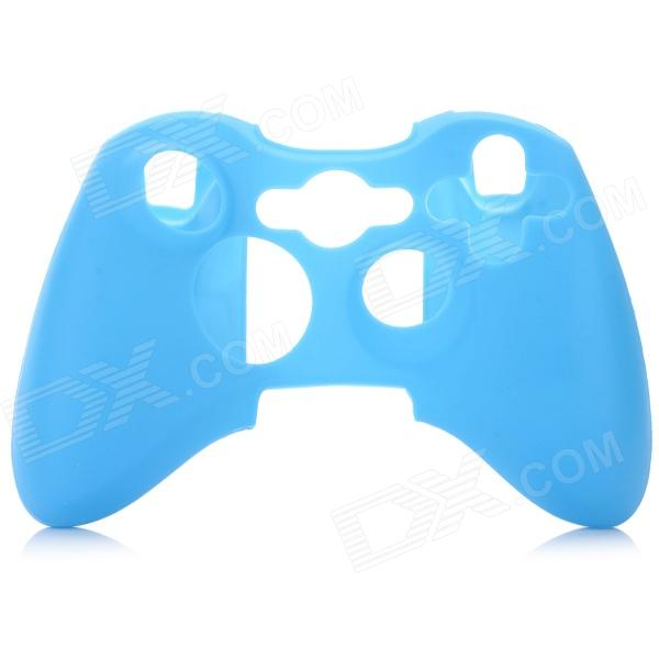 Glow-in-the-Dark Protective Silicone Case for XBOX 360 / XBOX 360 Slim Controller - Blue protective silicone cover case for xbox 360 controller white blue
