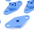 DIY ABS Fixing / Connecting Plates for MXL R/C Car Wheel - Blue (8 PCS)
