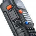 "BAOFENG BF-UV-5RQ 5W 1.5"" Dual Band 128-CH Walkie Talkie w/ FM / Flashlight - Black"