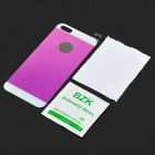 0.3mm Protective Tempered Glass Back Film Protector for IPHONE 5 - Purple + White