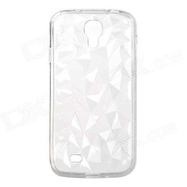 Ice Carving Style Protective TPU Back Case for Samsung S4 i9500 - Translucent White dynamic 3d skull pattern protective back case for samsung galaxy s4 i9500 black