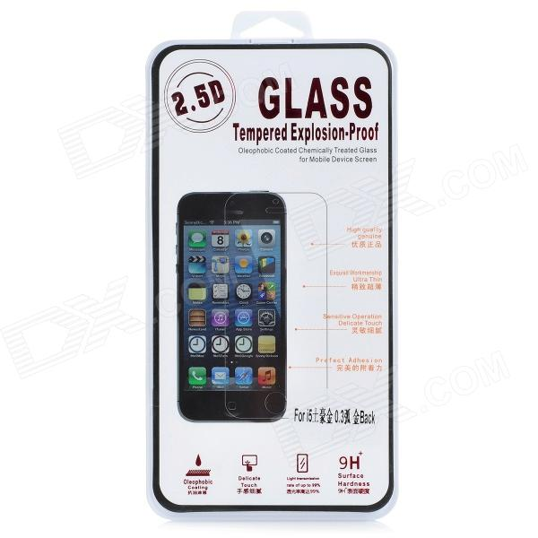 0.3mm Protective Tempered Glass Back Film Protector for IPHONE 5 - Golden + Whtie explosion proof tempered glass film screen protector for iphone 6 plus transparent