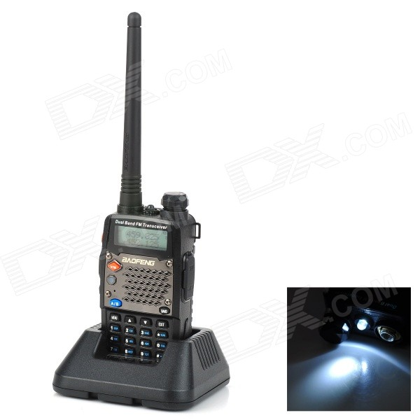 BAOFENG UV-5D 1.5 LCD 5W 136~174MHz / 400~520MHz Dual Band Walkie Talkie w/ 1-LED Flashlight о в сладкова макияж