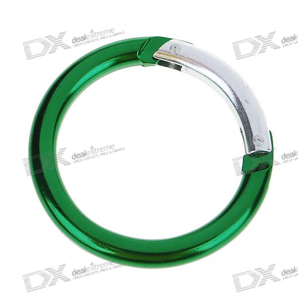 Aluminum Alloy Rounded Carabiner Clip (Color Assorted)