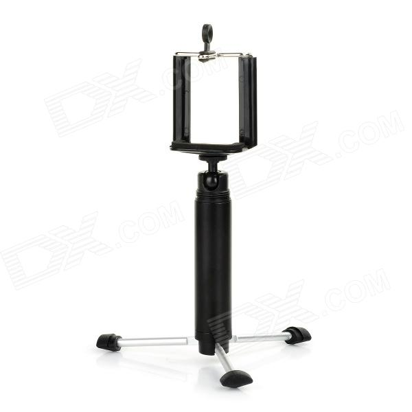 OD-01 Aluminum Alloy Portable Tripod + Handheld Self-Timer Holder - Black + Silver