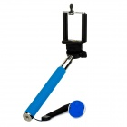 Universal Adjustable Handheld Monopod Mount Holder + Bluetooth V3.0 Self-Timer Set - Light Blue