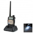 "BAOFENG BF-UV-5RD+ 5W 1.5"" Dual Band 128-CH Walkie Talkie - Black"