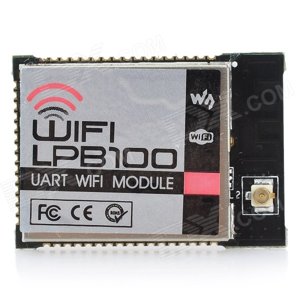 Wareshare WIFI-LPB100 UART to Wi-Fi Wireless Communication Module - Black