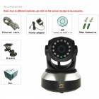 "Eye Sight ES-IP603IW 1/4"" CMOS 0.3MP P2P IP Camera w/ 10-IR-LED / IR-CUT / Wi-Fi / TF - Black"