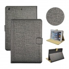 Angibabe Protective PU Leather Flip Open Case w/  Stand / Card Slot for IPAD AIR - Black
