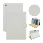 Angibabe Court Flower Pattern Protective PU Case w/ Stand + Card Slots for IPAD AIR - White