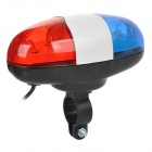 JY-325 Electric Horn + 6-Mode Cool White & Red Light Bike Light - White + Red + Multi-Colored