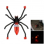Walangting Spider Shaped Vibration Sensor Red Light Bike Tire Wheel Lamp - Black + Red (3 x AG10)