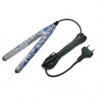 LOOF JR-198 Professional Mini Porcelain Hair Straightener - Blue + White  (EU Plug)